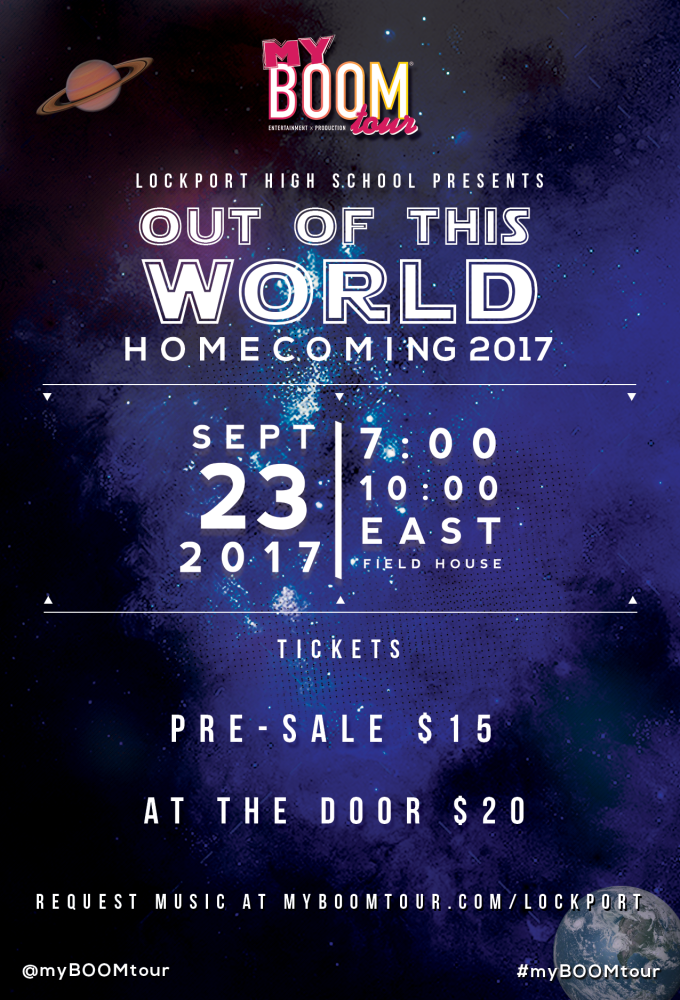 LTHS hosts 2017 'Out of this World' Homecoming with B96 Boom Entertainment, September 23, 7pm.