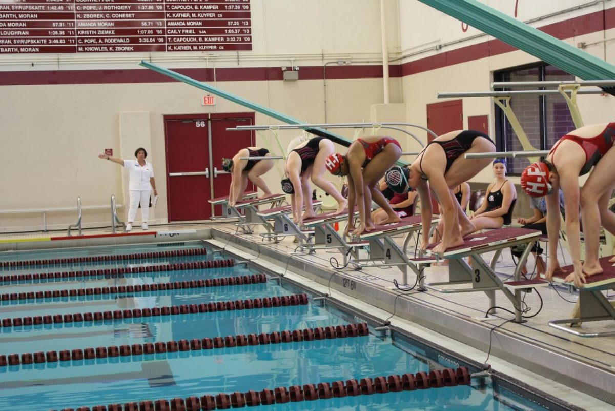 Swim+and+dive+team+in+action