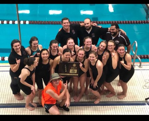 Girls' varsity swim team: breaking records and winning sectionals