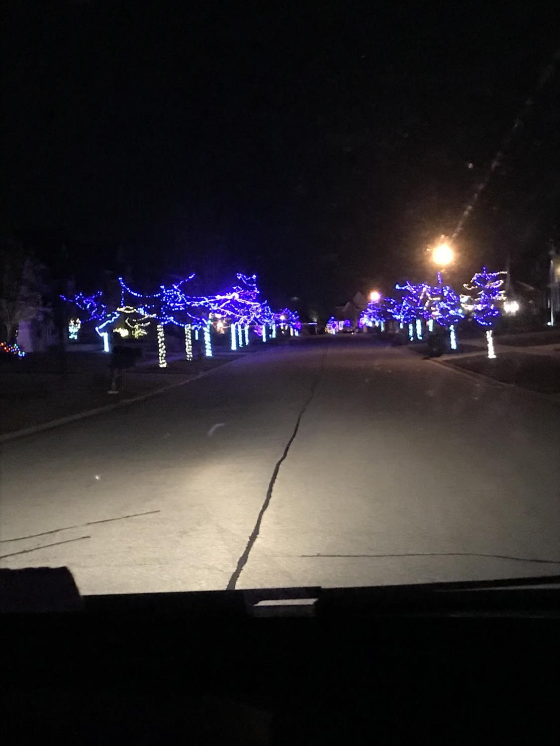 Just one of the holiday lights display at Creekside South