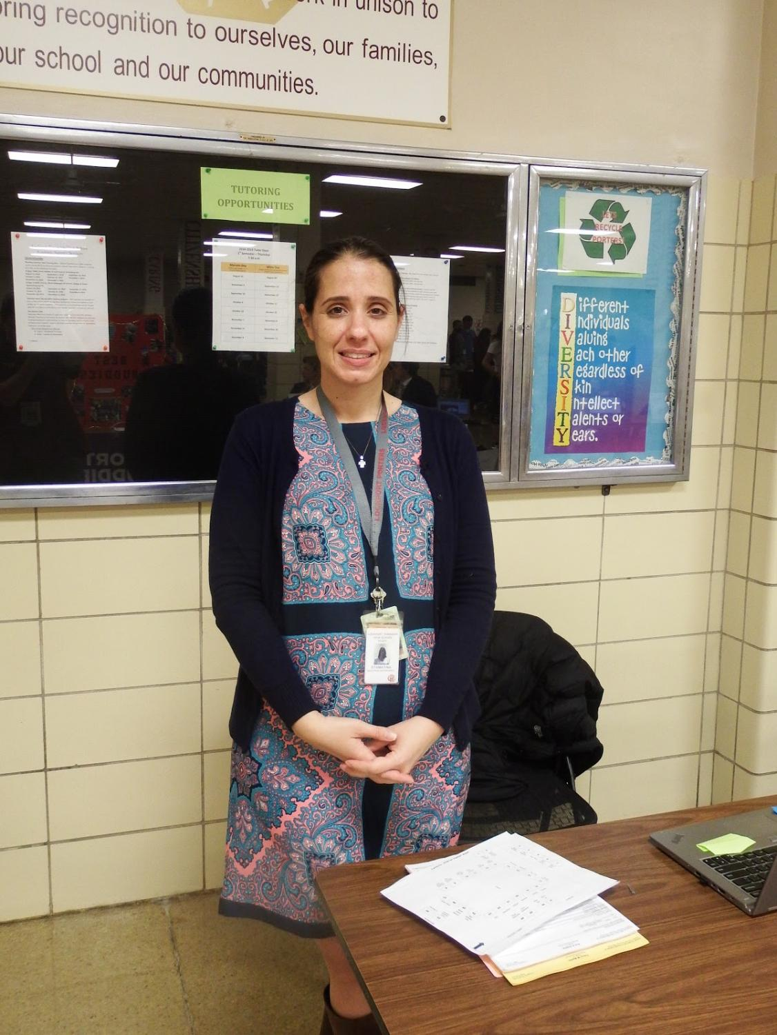 FEA's sponsor, Mrs. Hernandez, at this year's Step Up Night