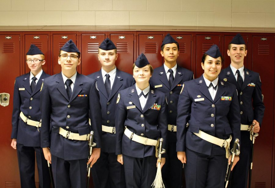 A group photo of the cadets that helped with the event