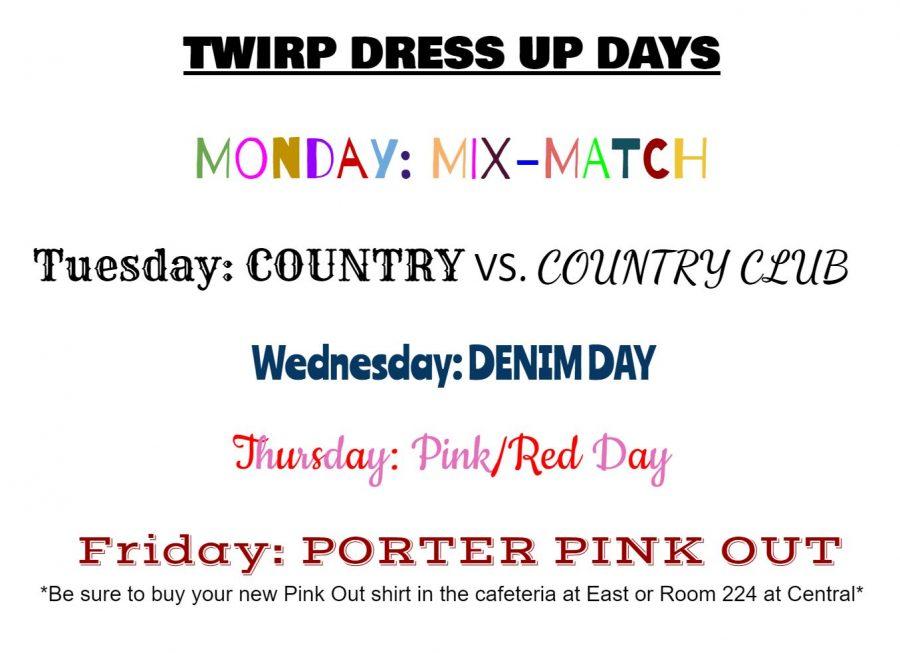 TWIRP Spirit Week 2/11 – 2/15