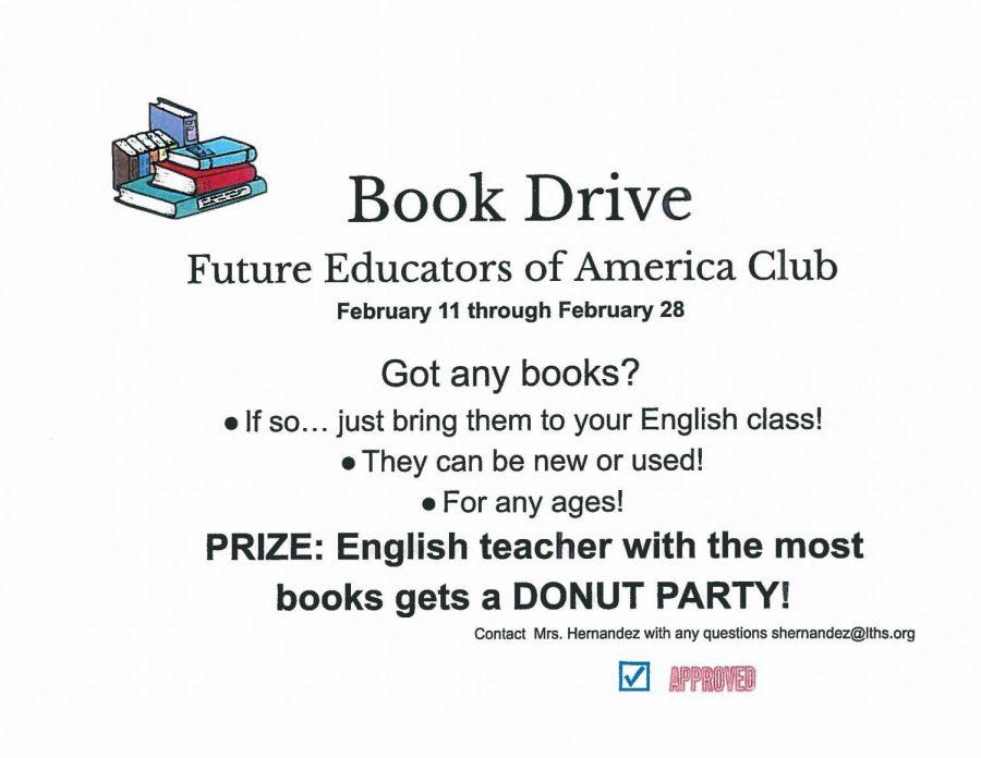 Future Educators of America Club hosts a book drive